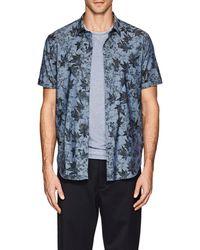 John Varvatos - Leaf-pattern Cotton Short - Lyst