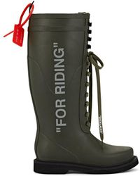 Off-White c/o Virgil Abloh - For Riding Wellington Boots - Lyst