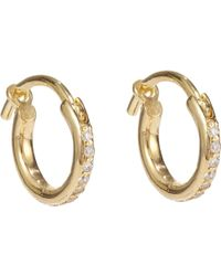 Ileana Makri   Huggie Hoop Earrings   Lyst