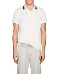Moncler - Piqué Cotton Polo Shirt - Lyst