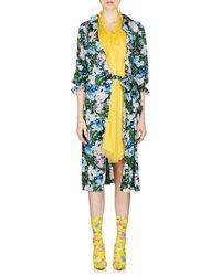 Balenciaga - Wildflower-print Nightgown-style Midi-dress - Lyst