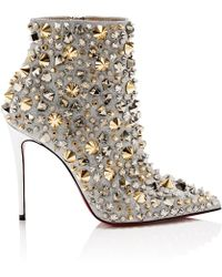 3dc75360b1a2 Christian Louboutin - Metallic So Full Kate 100 Leather Ankle Boots - Lyst