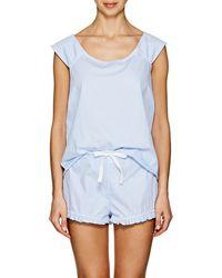 The Sleep Shirt - Striped Cotton Pajama Set - Lyst