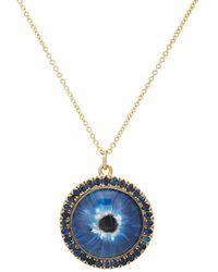 Ileana Makri - Glass Eye Sapphire Pendant Necklace - Lyst