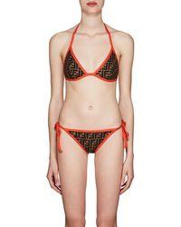 Fendi - Logo Triangle String Bikini - Lyst