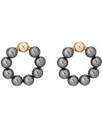 Beck Jewels - Large Og Pearl Hoop Earrings - Lyst