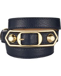 Balenciaga - Metallic Edge Wrap Bracelet - Lyst