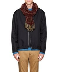 Barneys New York - Plaid Chenille Scarf - Lyst