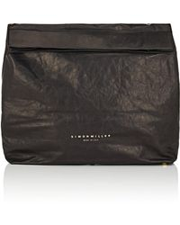 Simon Miller - Extra Large Leather Lunch Bag - Lyst