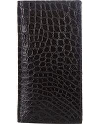 Barneys New York - Alligator Long Wallet - Lyst