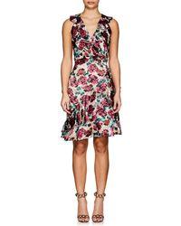 Saloni - Floral Burnout Rita C Dress - Lyst