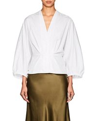 Narciso Rodriguez - Puff-sleeve Cotton Poplin Blouse - Lyst
