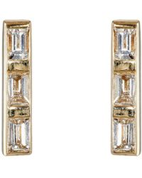 Ileana Makri - Thread Bar Stud Earrings - Lyst