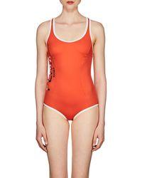 5c5527eaf04 Fendi Ff Olympic Swimsuit in Brown - Lyst