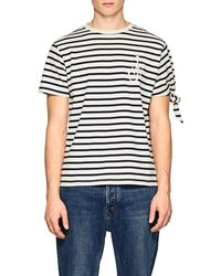 J.W.Anderson - Logo Striped Cotton T - Lyst