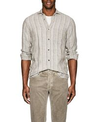 Inis Meáin - Striped Washed Linen Shirt - Lyst