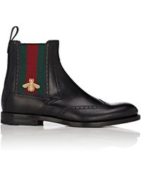 Gucci - Strand Leather Wingtip Chelsea Boots - Lyst