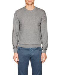 Luciano Barbera - Herringbone Wool Sweater - Lyst