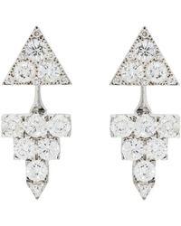 Ileana Makri - Diamond Pyramid Earrings - Lyst