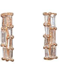 Nak Armstrong - White Diamond Bar Stud Earrings - Lyst