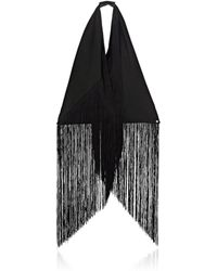 MM6 by Maison Martin Margiela - Fringed Canvas Triangle Bag - Lyst