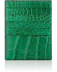 Barneys New York - Large Alligator Card Case - Lyst