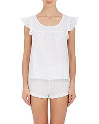 The Sleep Shirt - Linen Fil Coupé Pajama Set - Lyst