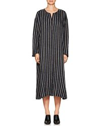 Pas De Calais - Striped Linen-blend Tunic Dress - Lyst