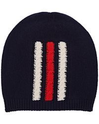 6ed674690df Lyst - Gucci Wool Striped Beanie Hat in Black for Men