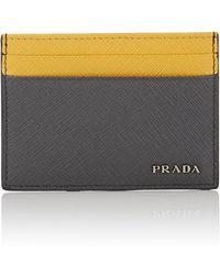 Prada | Colorblocked Leather Card Case | Lyst