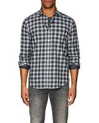 Hartford - Plaid Cotton Madras Shirt Size M - Lyst