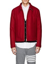 Thom Browne - Button-detailed Wool Melton Jacket - Lyst