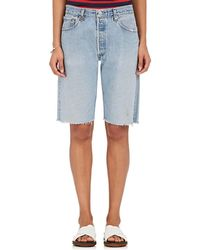 RE/DONE - Levi's® Denim Walking Shorts - Lyst