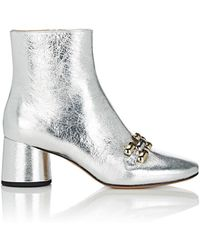 Marc Jacobs - Remi Chain-link Ankle Boots - Lyst