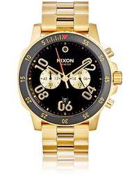 Nixon - Ranger Chrono Leather Watch - Lyst