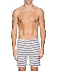 Onia - Calder Striped Swim Trunks - Lyst