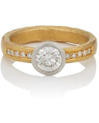 Malcolm Betts - Round White Diamond Ring - Lyst
