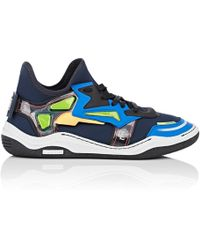 Lanvin - Mixed-fabric Sneakers - Lyst