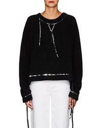 MM6 by Maison Martin Margiela - Sequined Bouclé-knit Sweatshirt - Lyst