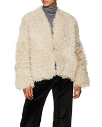 Zero + Maria Cornejo - Sheep Shearling Reversible Coat - Lyst