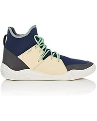 Cap-toe Matte-leather Sneakers - Army greenLanvin 0RUoS
