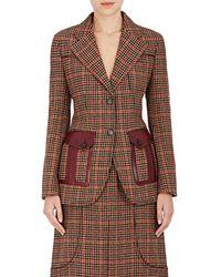 Prada Houndstooth Wool-blend Two - Brown