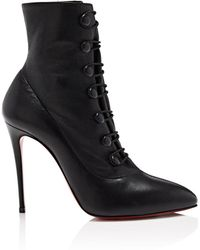 Christian Louboutin - French Tutu Leather Ankle Boots - Lyst