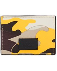 Valentino - Camouflage Leather Card Case - Lyst