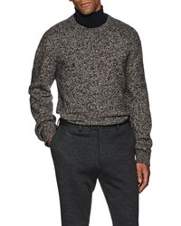 Brioni - Mélange Wool Chunky Sweater - Lyst