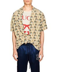 Gucci - Men's Anime Graphic Short-sleeve Silk Shirt - Lyst