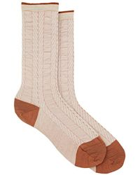 Antipast - Shearing Herringbone Wool-blend Mid-calf Socks - Lyst