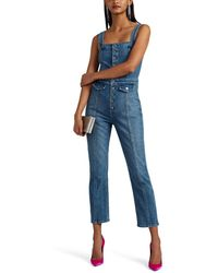 GRLFRND - Hill Denim Slim Jumpsuit - Lyst