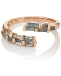 Nak Armstrong - Open Coil Blue Zircon & Rose Gold Ring - Lyst