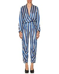 Zero + Maria Cornejo - Takeo Striped Twill Jumpsuit - Lyst